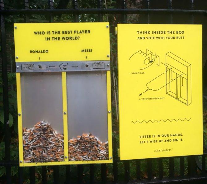 Da Londra arriva un'idea brillante <br />per eliminare <br />le cicche dalle strade