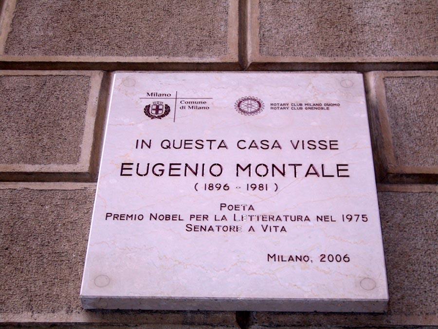 ... e quella per Eugenio Montale.