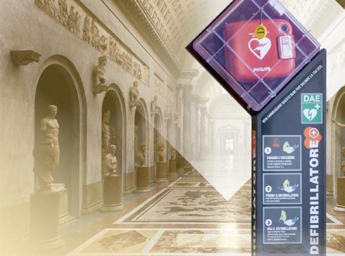 Defibrillatori nei Musei Vaticani: installati i primi in Italia
