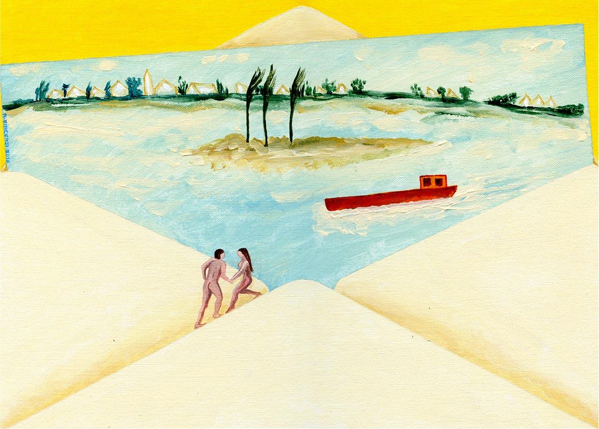 Due pittori in viaggio lungo il Po: <br />De Pisis, con le parole e in bici, <br />Nino Vincenzi con i suoi pennelli