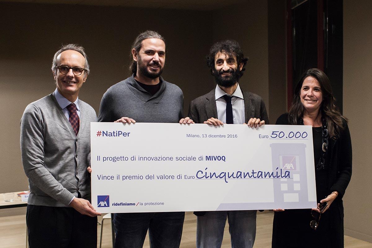 Nell'esercito del bene AXA premia <br />la start-up veneta Mivoq che vuole <br />dare voce a chi rischia di perderla