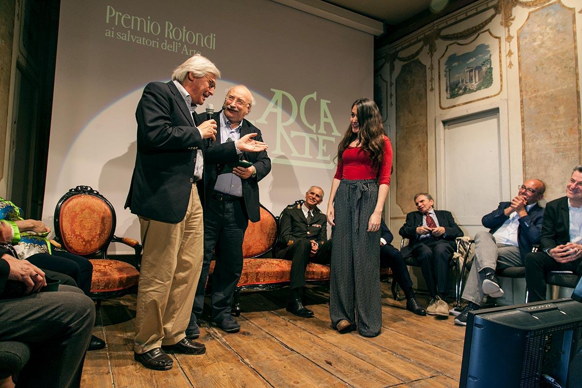 E Sgarbi annotò: <br />onore a Pasquale Rotondi, <br />salvò l'arte <br />dalla furia nazista