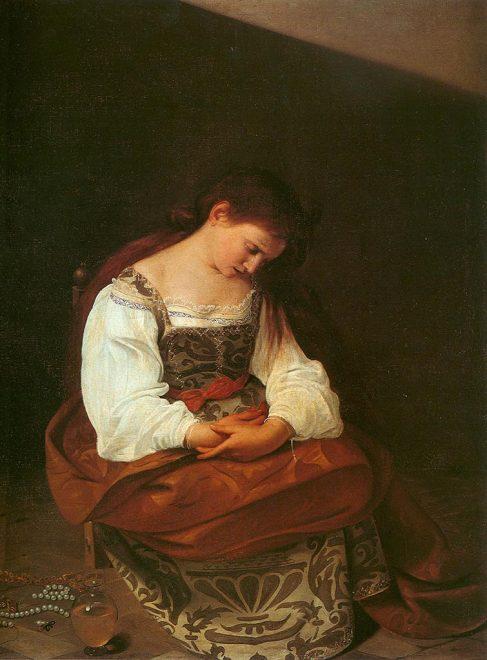 caravaggio-Maddalena-penitente-(1597)