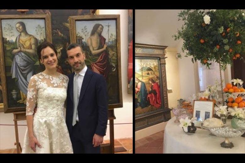 Restaurano due quadri invece di bomboniere: <br />l'ammirevole gesto di due sposi <br />in Romagna (che premiamo con <br />un weekend in un hotel-museo a Pesaro)
