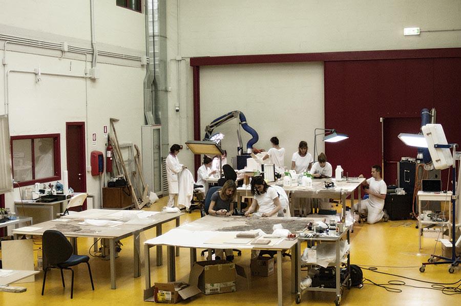 Sisma in Umbria: 260 opere <br />messe in sicurezza da 10 giovani <br />restauratori fiorentini
