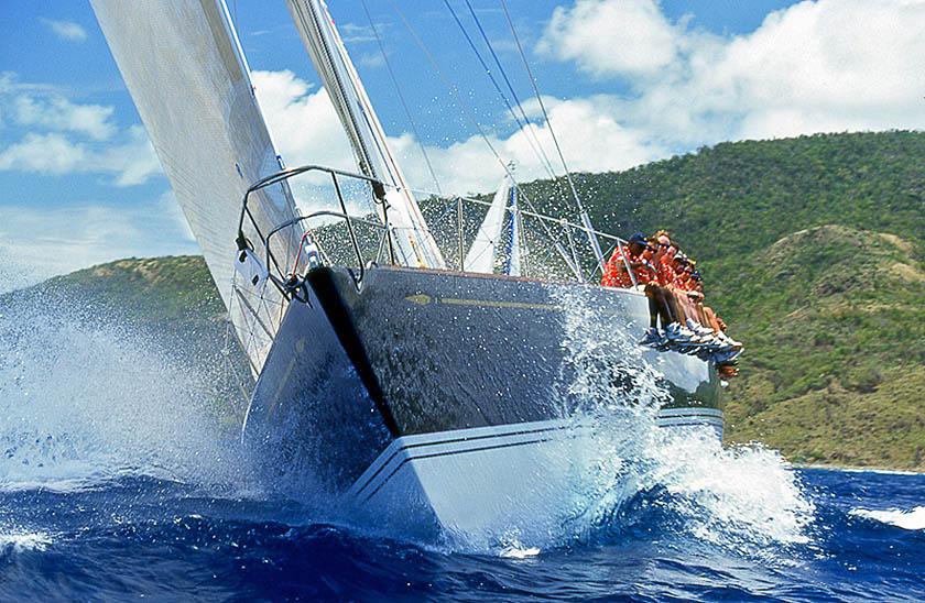 A vela nell'arcipelago adriatico delle Incoronate. (Foto Fabio Braibanti)