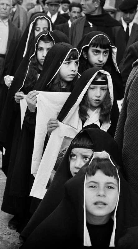 Processione dei Misteri del Venerdì Santo. Ciminna, 1964