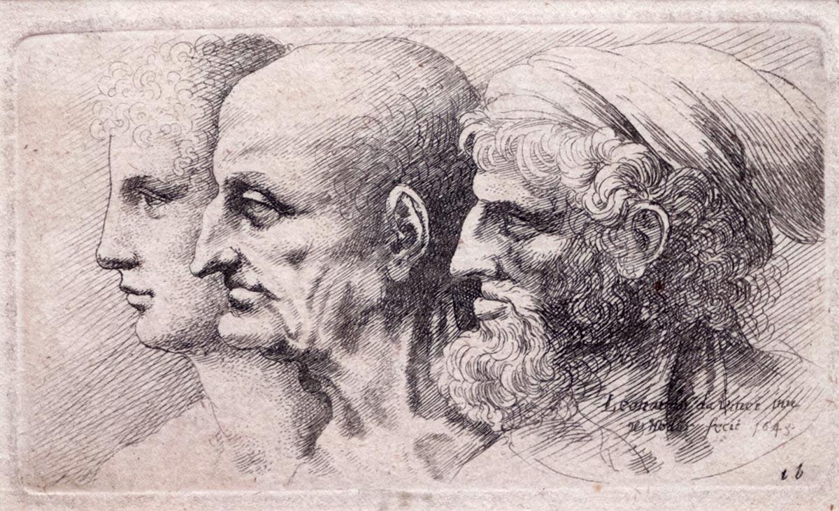 Leonardo disegnato da Hollar, <br />le caricature del genio esposte a Vinci <br />per il varo della nuova <br />Fondazione Rossana & Carlo Pedretti <br />(e un libro sui suoi 20 anni a Milano)