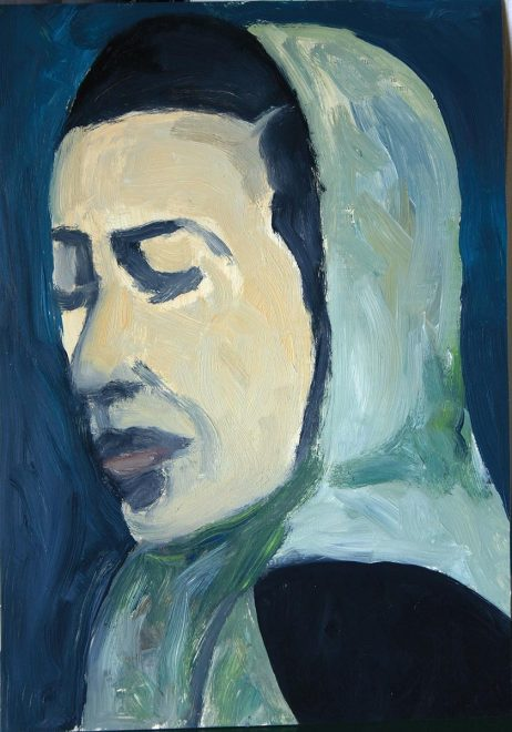 """Aleksandrowski, """"Volto di donna con foulard"""""""