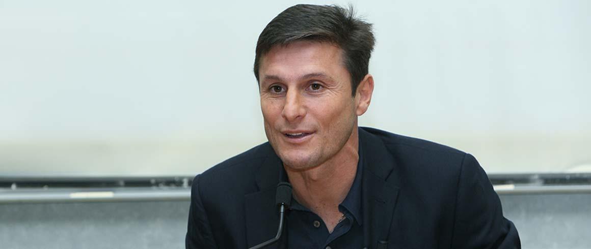 Ambasciatori della Grande Milano: <br />Javier Zanetti, vicepresidente dell'Inter