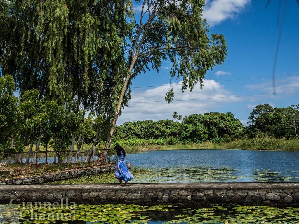 La poeta filippina Sasha Pimentel, all'Isola di Ceiba