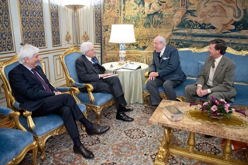Il presidente del FAI Andrea Carandini e, sulla destra, il vicepresidente esecutivo Marco Magnifico ricevuti al Quirinale il 15 gennaio 2019 dal presidente della Repubblica Sergio Mattarella