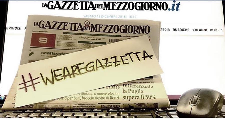 Gazzetta vivrai! Traghettiamo fuori dalla crisi il quotidiano di Bari e delle regioni vicine