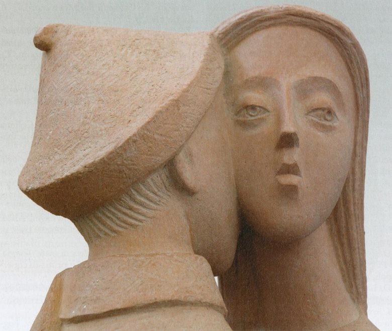 Antonio Di Pillo - Bozzetto per un monumento all'emigrante, terracotta patinata, particolare