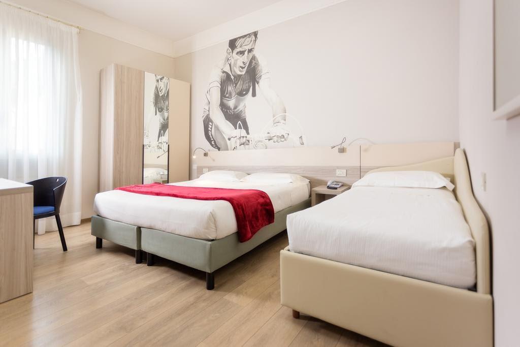 La stanza di Fausto Coppi all'hotel Ala d'Oro