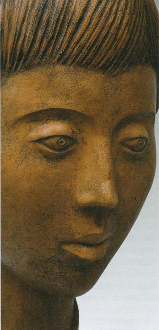 Antonio Di Pillo - 'Ragazzo', 1977, terracotta patinata, particolare