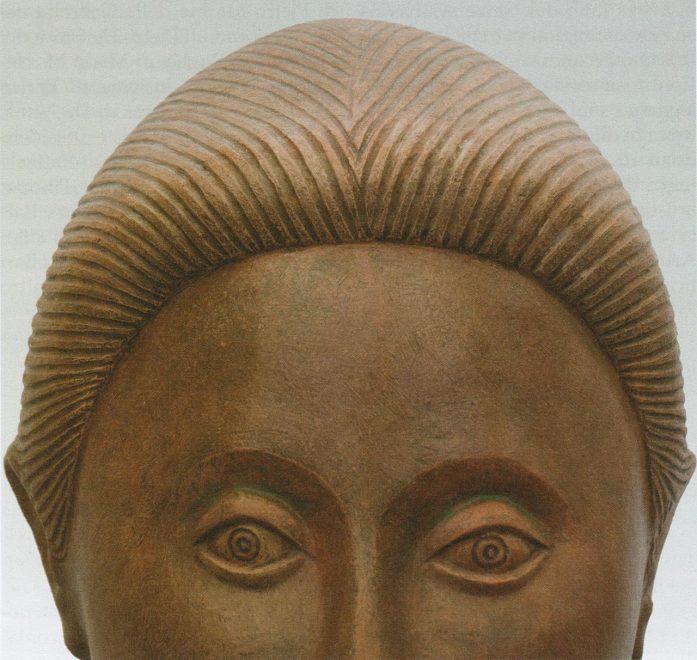 Antonio Di Pillo - 'Giovinetta del Tavoliere', 1989, terracotta patinata
