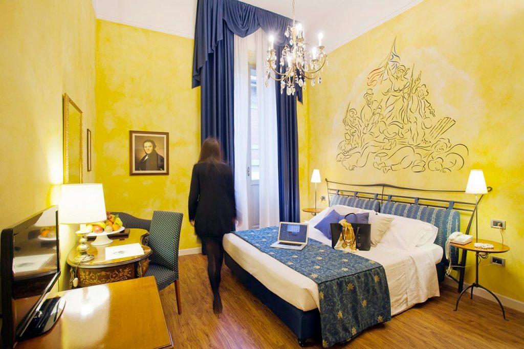 La stanza di Stendhal all'hotel Ala d'Oro