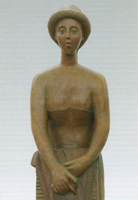 Antonio Di Pillo - 'Donna che lava', 1991, terracotta patinata, particolare