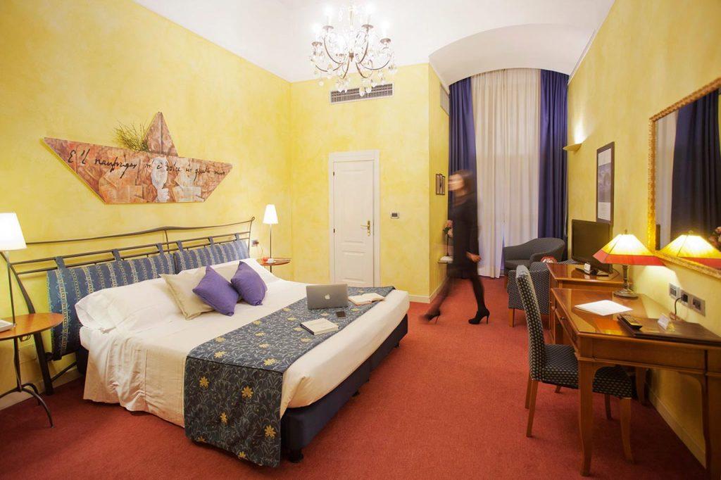 La stanza di Giacomo Leopardi all'hotel Ala d'Oro