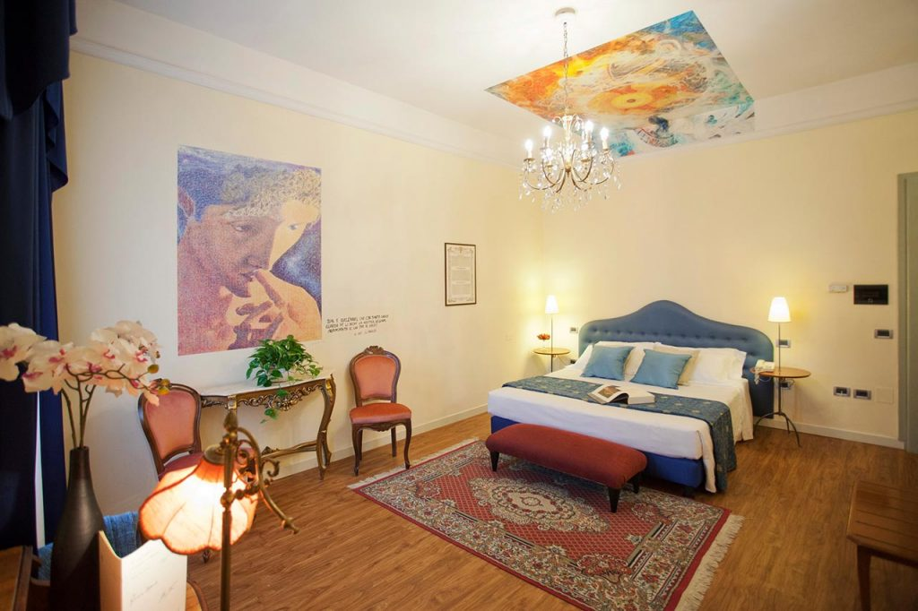 La stanza di Dante all'hotel Ala d'Oro