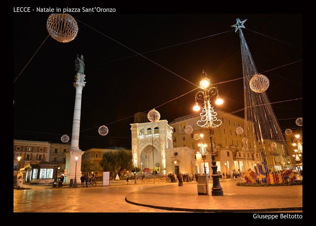 Natale in piazza Sant'Oronzo a Lecce
