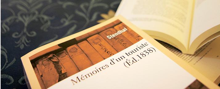 La stanza dedicata a Stendhal all'hotel Ala D'Oro