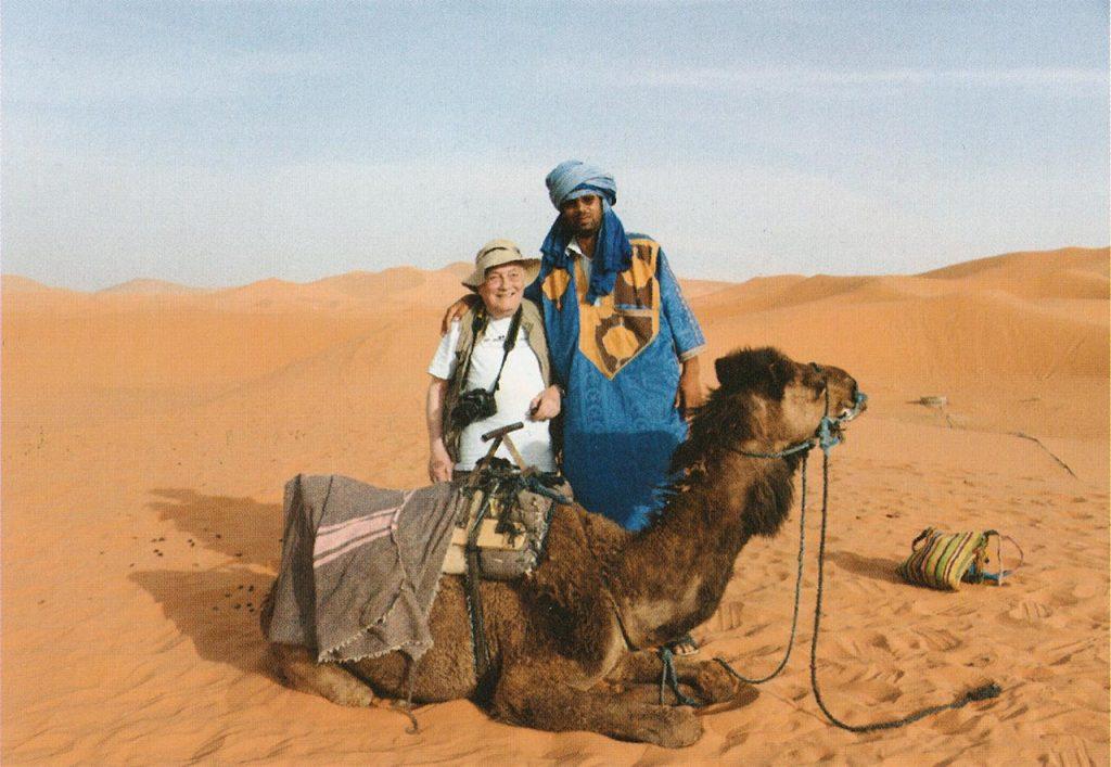 Peppino Lupo nel deserto del Sahara in Marocco