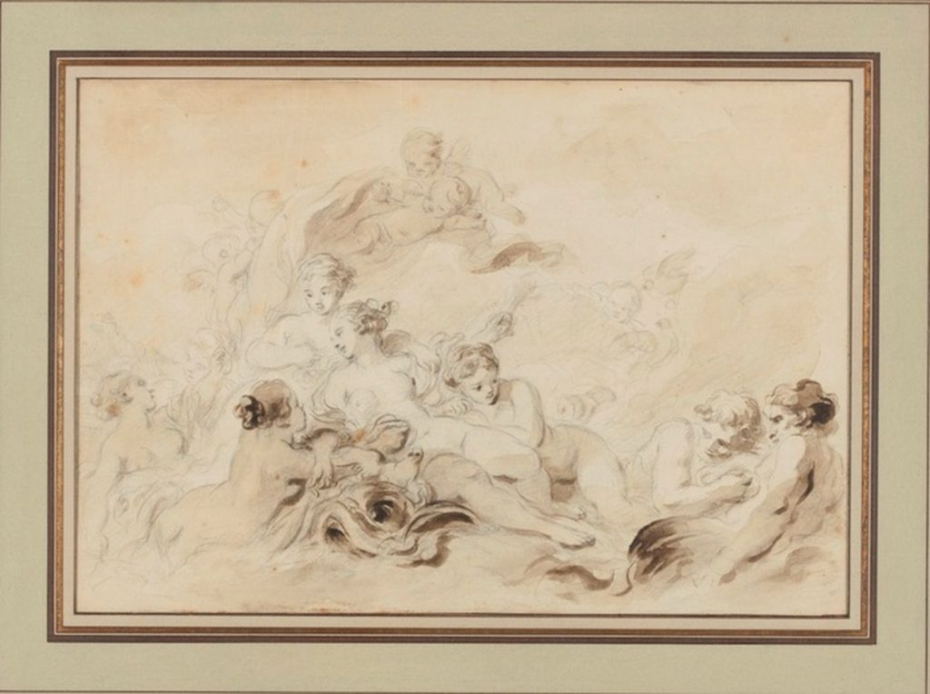 Jean Honoré Fragonard, Il Trionfo di Venere, 1790 ca.
