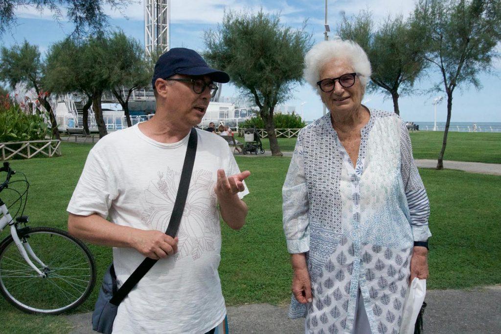 Roberto Malini con Liliana Segre