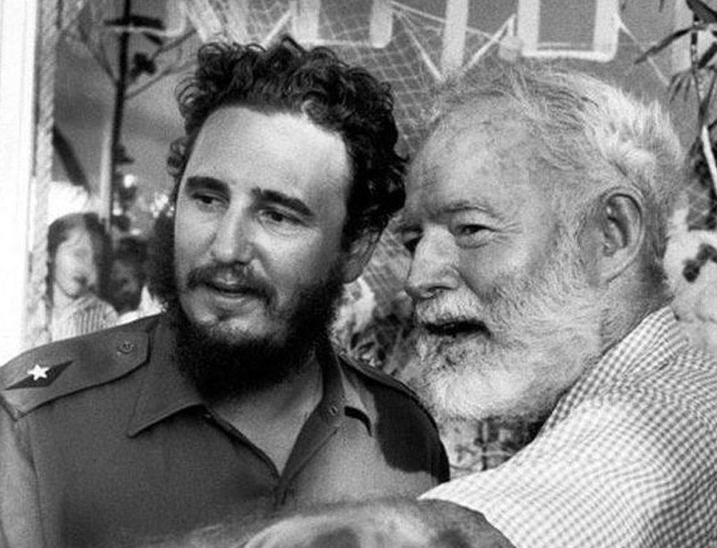 Hemingway con Fidel Castro