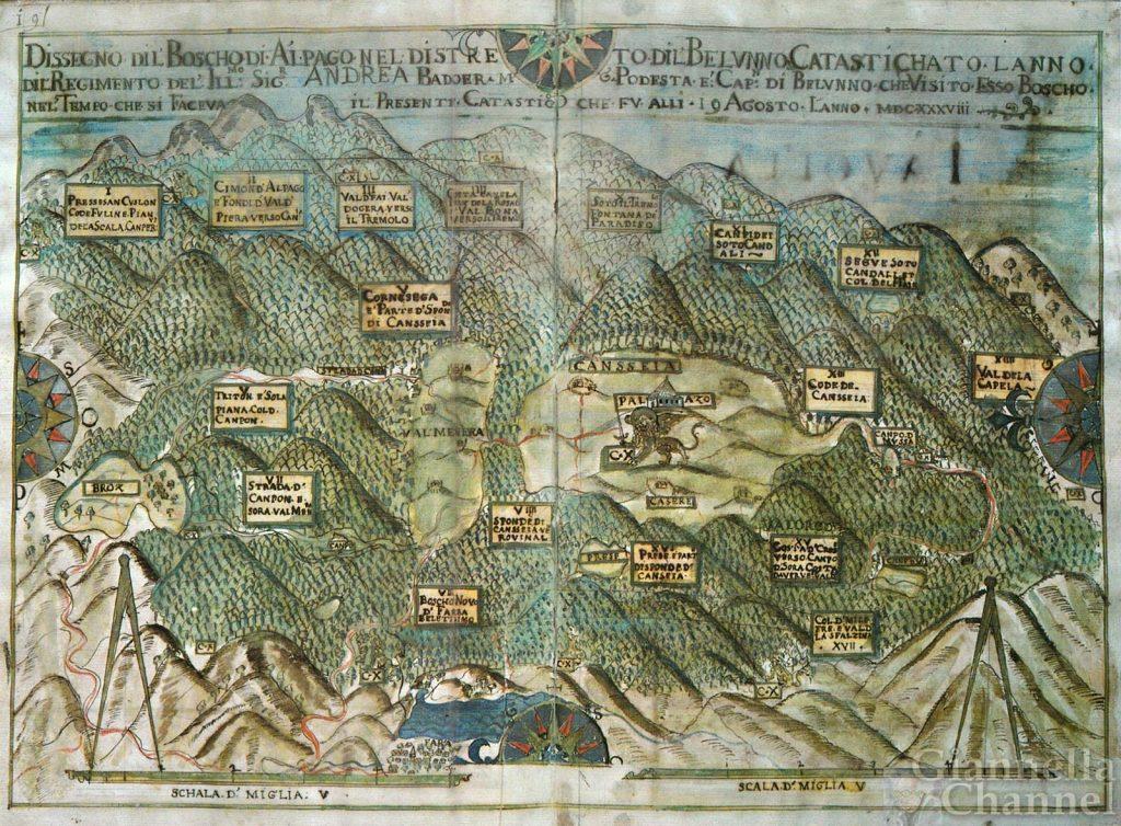Airone Magazine - Mappa Cansiglio - Zorzi de Christofolo 1638