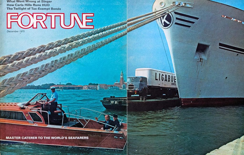 Rivista Fortune dedica a Giancarlo Ligabue la copertina del numero del dicembre 1975