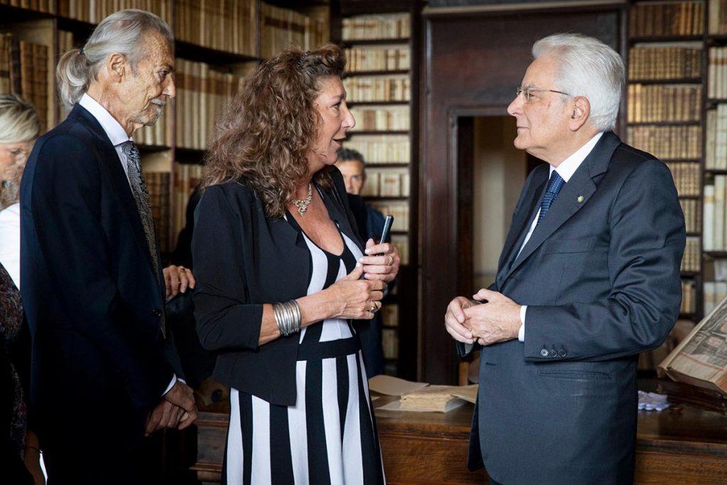 Sergio Mattarella ricevuto a Casa Leopardi