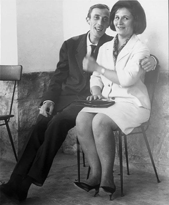Gianni Giannini con Silvana, la sua sposa dal 22 febbraio 1960
