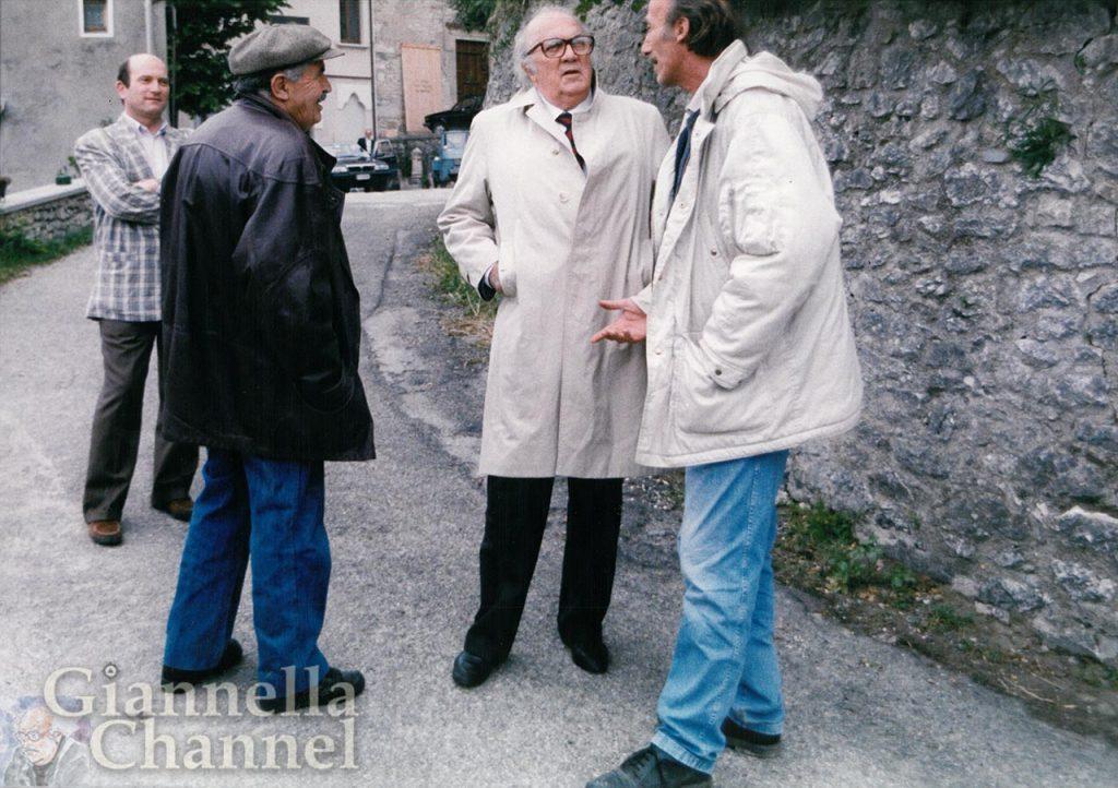 Pennabilli, settembre 1991: Gianni Giannini con Federico Fellini e Tonino Guerra