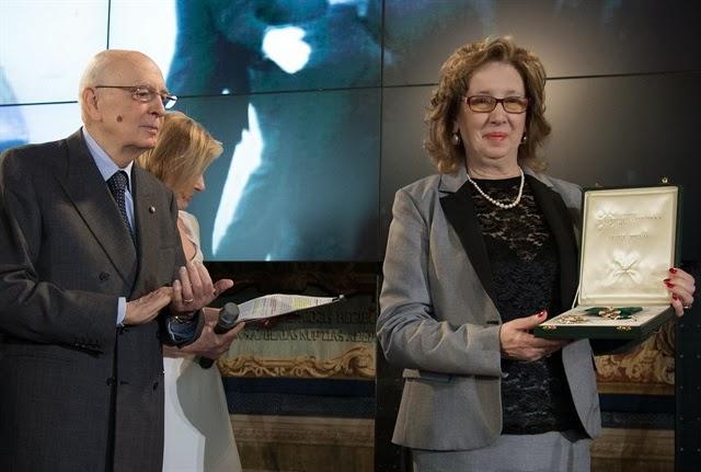 Franca Viola riceve onoreficenza da Giorgio Napolitano