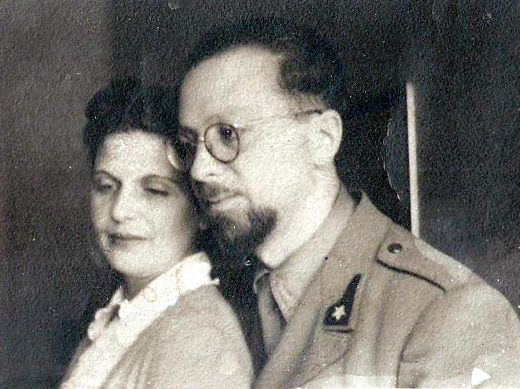 Luigi Pierantoni insieme a sua moglie Lea