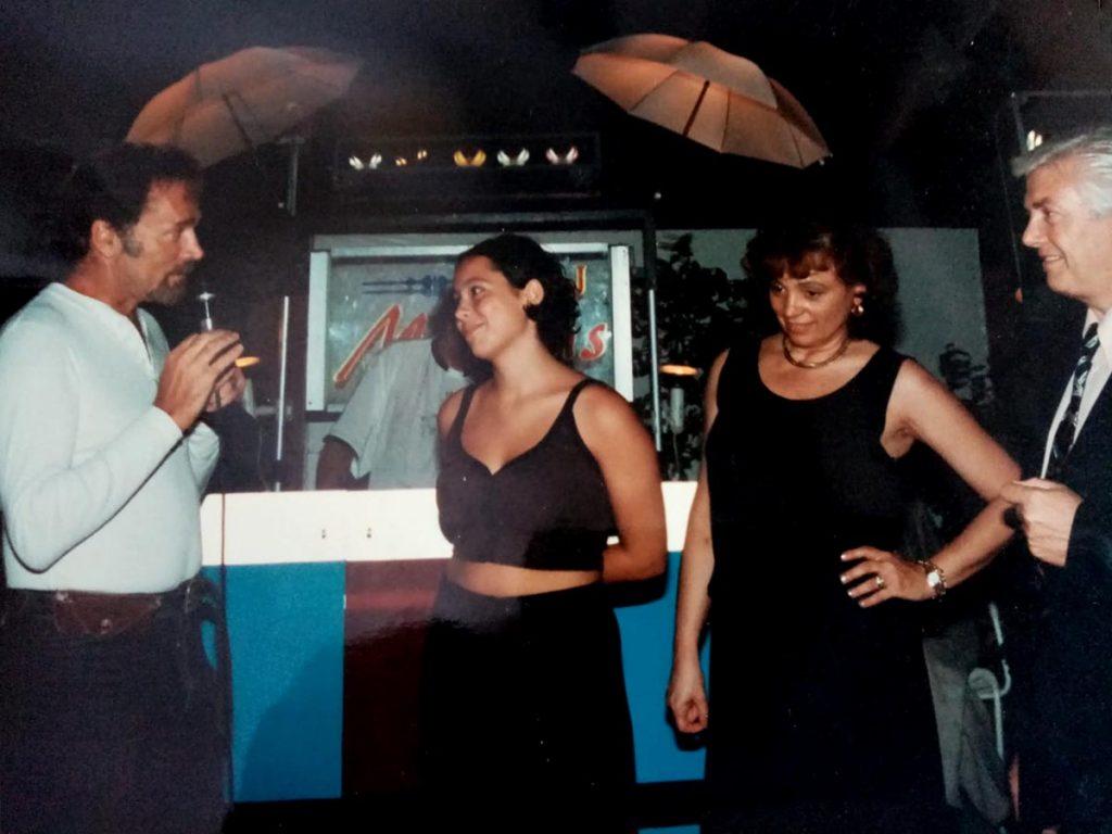 L'attore Franco Nero con la sposa di Terenzio Medri, Luciana, e la figlia Barbara
