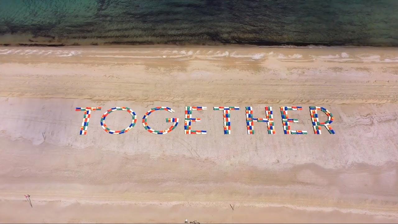 """""""Together"""", a Cesenatico <br />301 lettini sulla spiaggia <br />pensando alla ripartenza"""