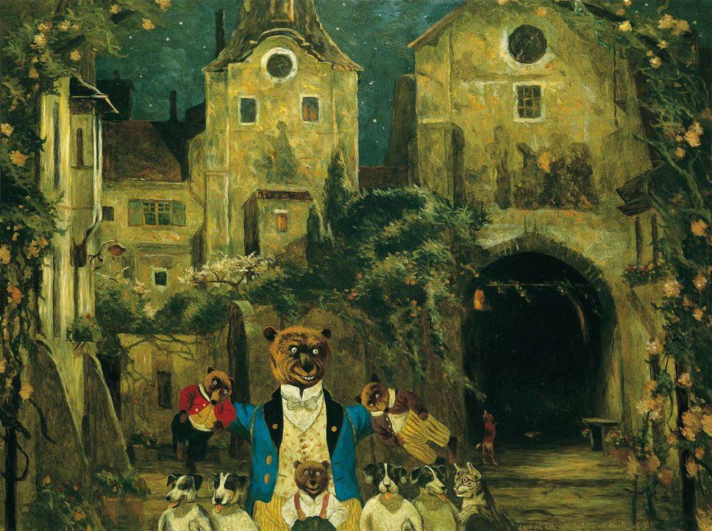 """Quadro di Antonio Saliola: """"I padroni della notte"""", 1996"""