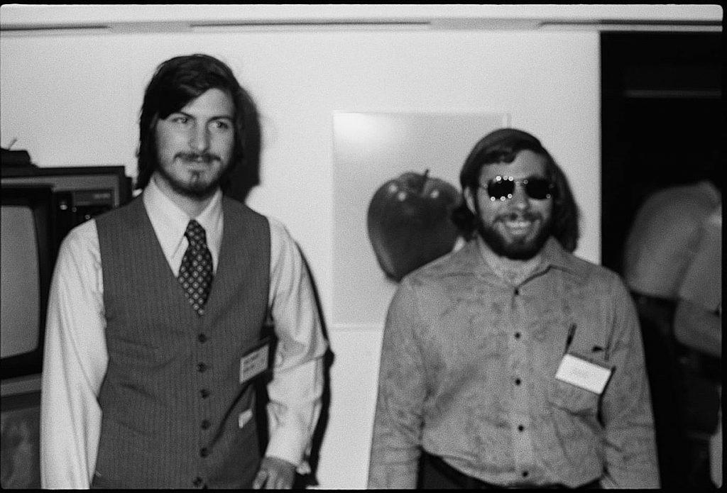 Steve Jobs con Steve Wozniak