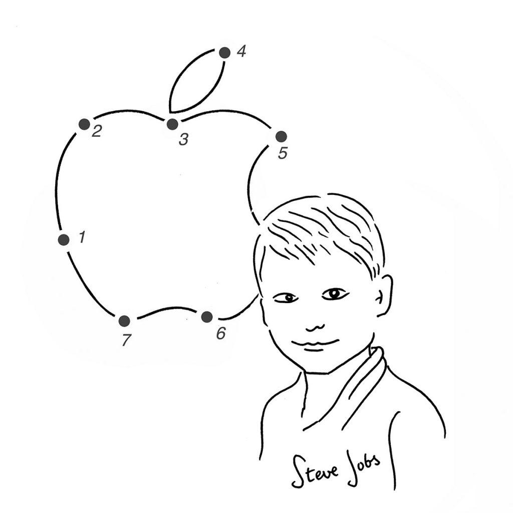 Steve Jobs bambino, nel ritratto di Luca Novelli