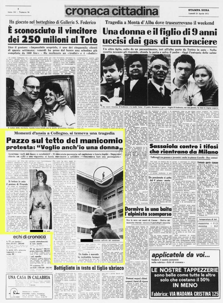La-Stampa-24-aprile-1972: Voglio una donna