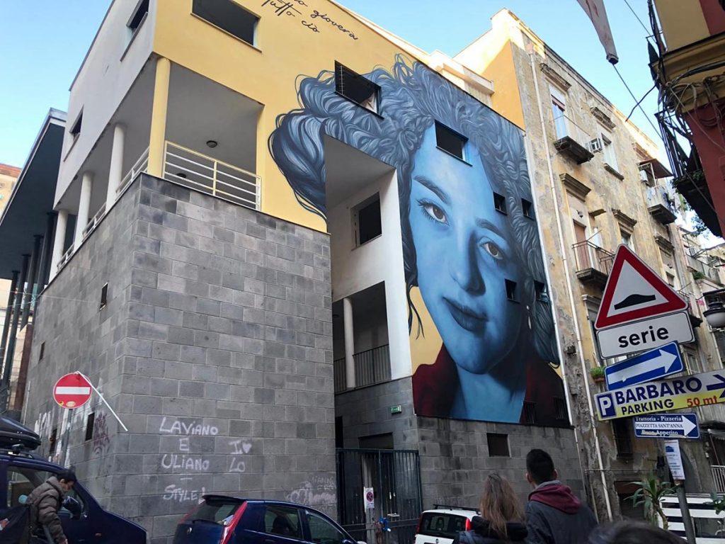 murale dedicato a Eleonora nei Quartieri Spagnoli di Napoli