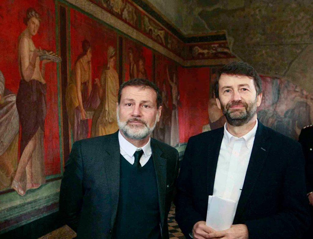 Massimo Osanna e il ministro Franceschini agli scavi di Pompei