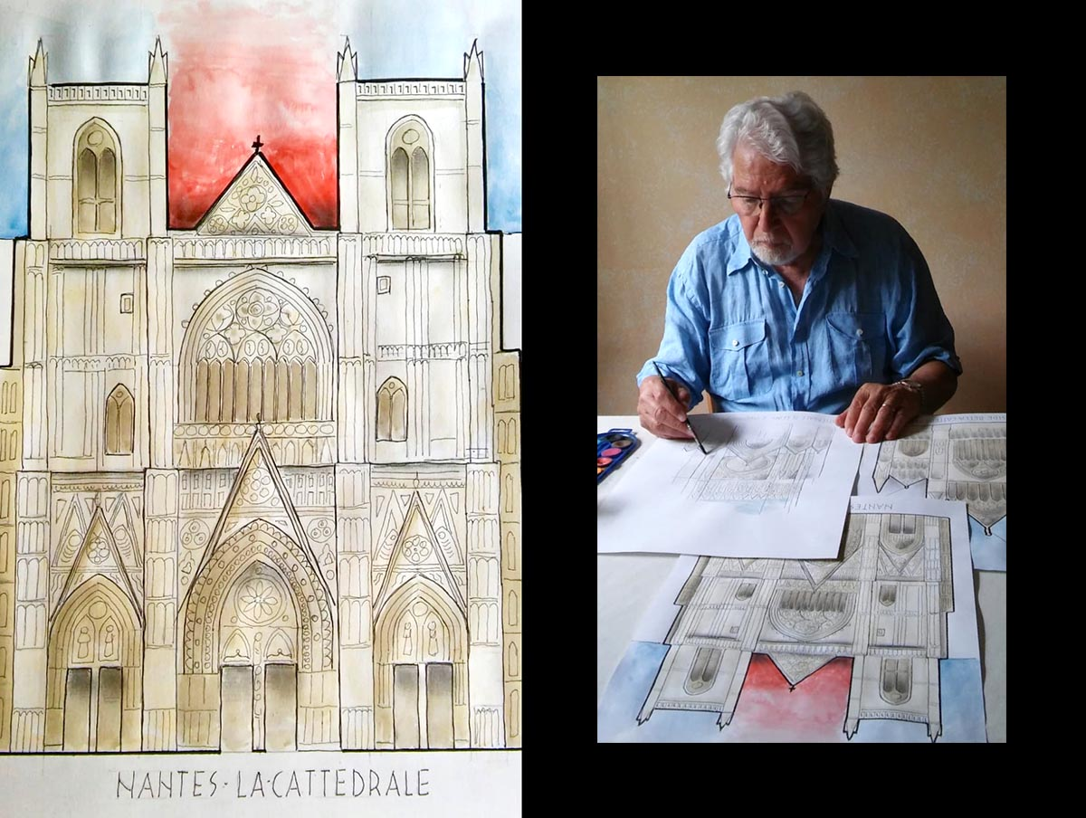 Il viaggio di Ilario Cuoghi <br />tra cattedrali di carta che <br />non bruciano, ma illuminano <br />i nostri strani giorni