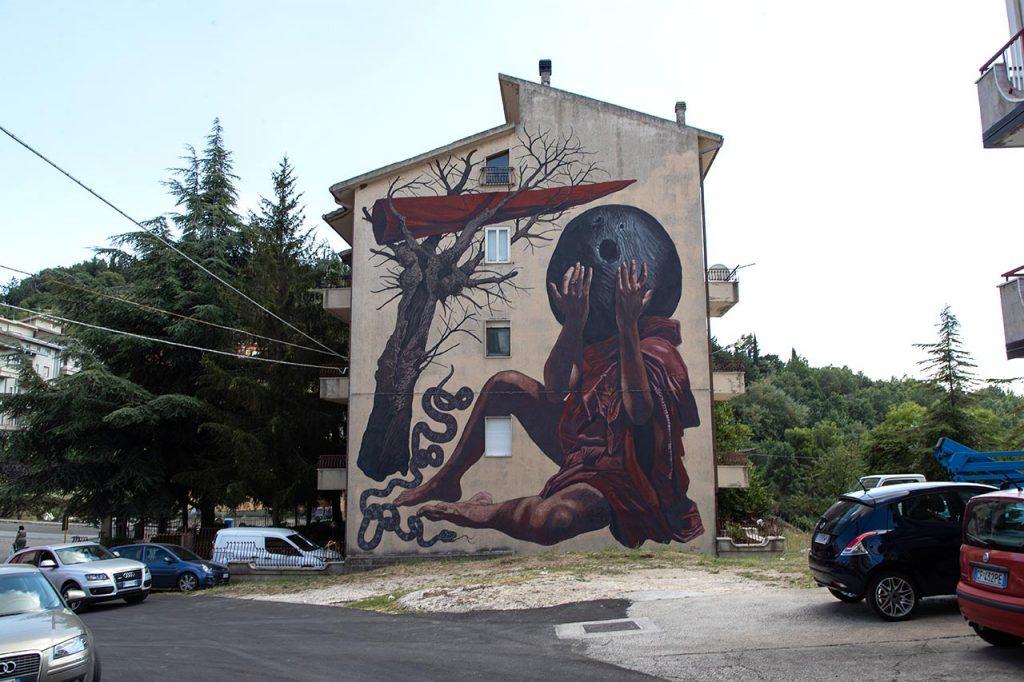 Stigliano Street art 'appARTEngo' - Nicola Alessandrini, 'Povr Mnocidd', 2020