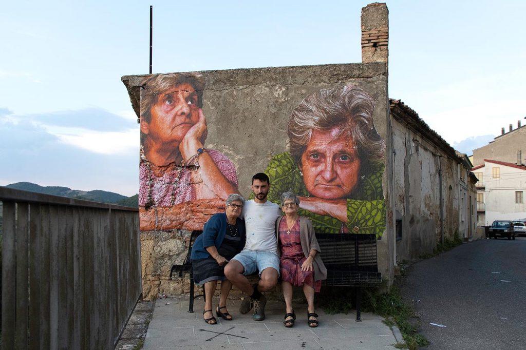 Stigliano Street art 'appARTEngo' - Bifido, 'Signorine', 2020