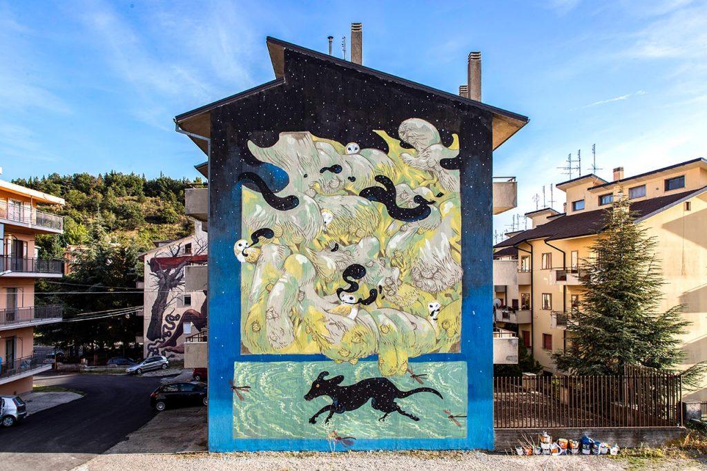 """Hitnes, """"Mangiatori di notte"""", Stigliano, 2020"""